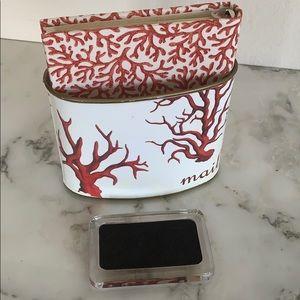 Office - Red Coral Print Desk Set